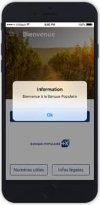 bienvenue sur l'application Banque Populaire